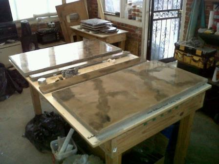 kitchen concrete countertops | vanities | acid stained concrete ...